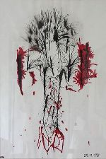 Jesus is Blood, 90 x 60, Gouache auf Papier © Kurt-Martin Lugger